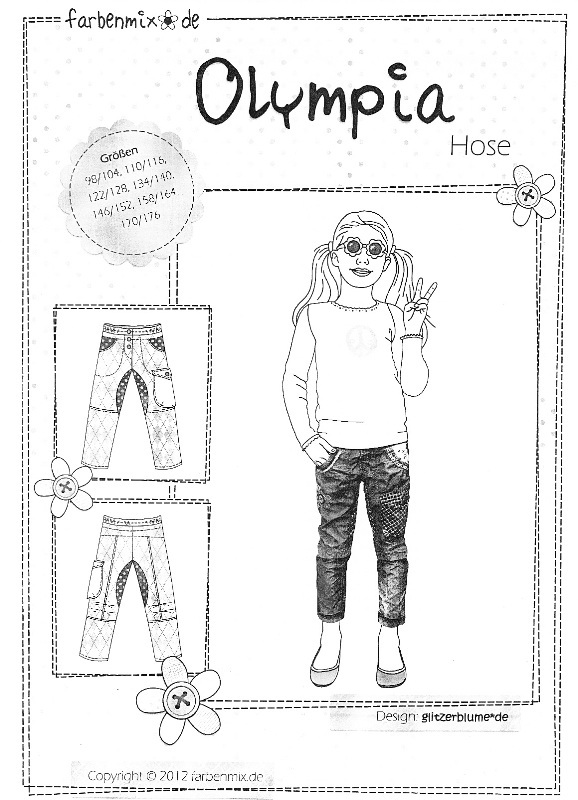 Farbenmix Schnittmuster OLYMPIA - Hose