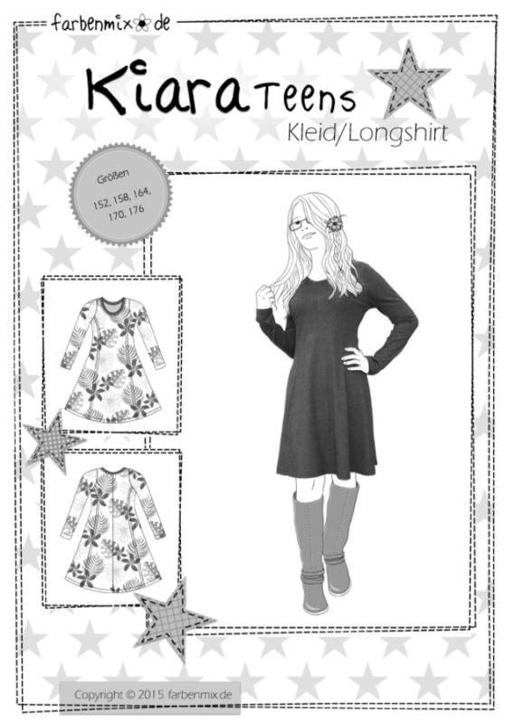 Farbenmix Schnittmuster KIARA Teens - Kleid/Longshirt