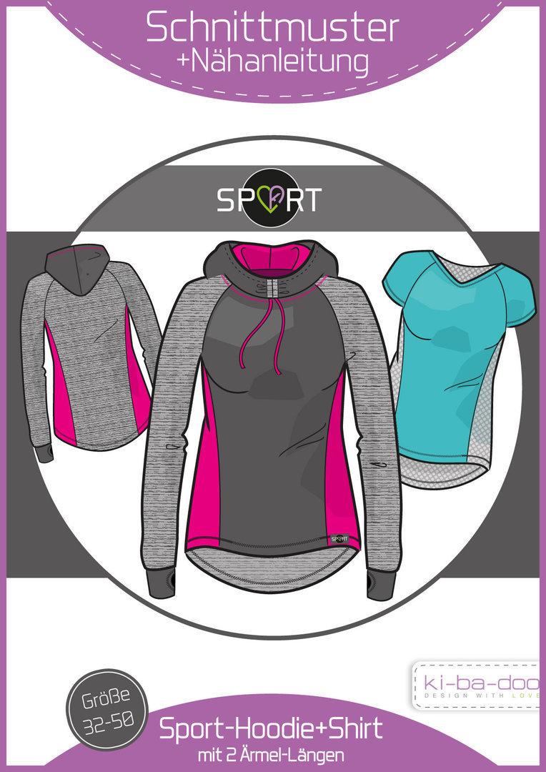 Sport-Hoodie Damen - DIN A 0 Schnittmuster und Anleitung als Broschüre