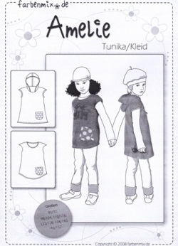 Farbenmix Schnittmuster AMELIE - Tunika/Kleid