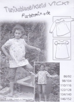 Farbenmix Schnittmuster VICKY - Tunikabluse/Kleid