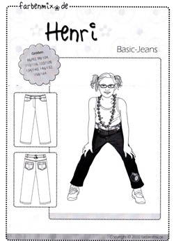 Farbenmix Schnittmuster HENRI - Basic-Jeans