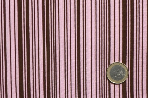 Michael Miller BAR CODE STRIPE CX1124 Rosa Braun