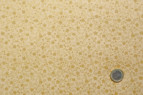 Fabric Freedom DICKENS CHRISTMAS F287 Sterne Gold Sand