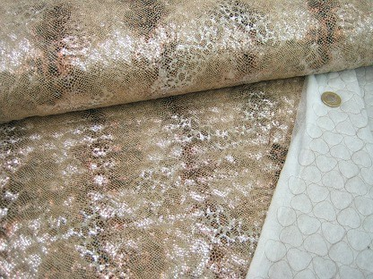 Stepper wattiert Animalprint 5300/02 Beige Silber Bronze
