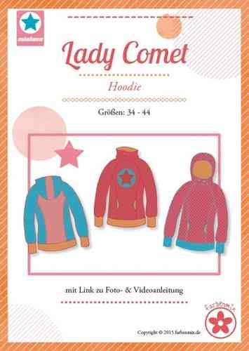 e76087ce66 Farbenmix MiaLuna Schnittmuster Lady COMET - Hoodie