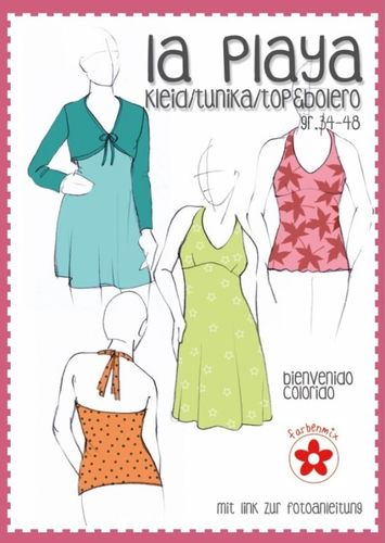 Farbenmix Bienvenido Schnittmuster LA PLAYA - Kleid & Bolero