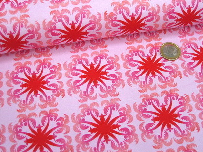 "Hilco Stretchjersey ""Palm-Trees"" A 3774/40 Rosa Pink"