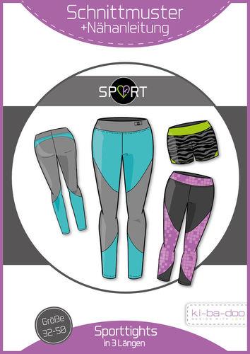 Sport-Tight Damen - DIN A 0 Schnittmuster und Anleitung als Broschüre