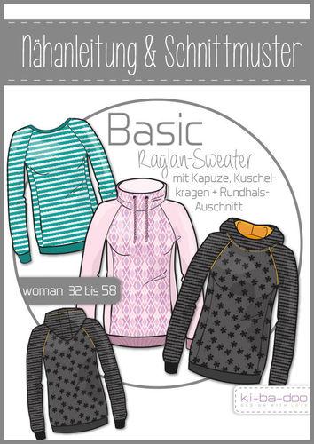 Basic Raglan Sweater Damen - DIN A 0 Schnittmuster und Anleitung als ...