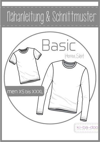 Basic Shirt Herren - DIN A 0 Schnittmuster und Anleitung als Broschüre