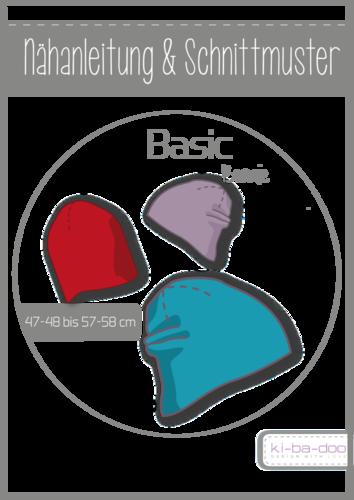 Basic Beanie Mütze - DIN A 3 Schnittmuster und Anleitung als Broschüre