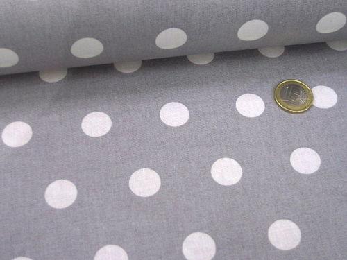 e562f2b414 Beschichtete Baumwolle große Punkte Grau Weiß