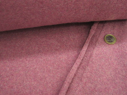 Bio-Baumwoll-Fleece Melange OR8001-019 Bordeaux-Grau