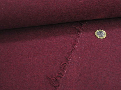 "Wollstoff ""Wool Caban"" Melange RS0239-018 Bordeaux"