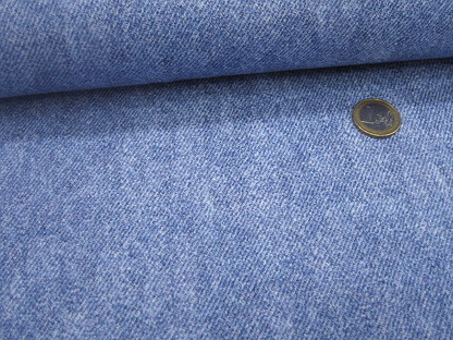 "French Terry ""I love Jeans"" GOTS 08193.003 Jeansblau"