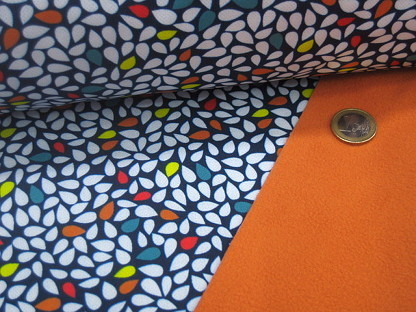 "Softshell ""Tear Drops"" KC8329-004 Blau Orange"
