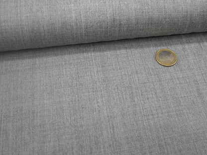 "Stretch-Gabardine ""Royal"" Wolle 110.080-3002 Grau mel."